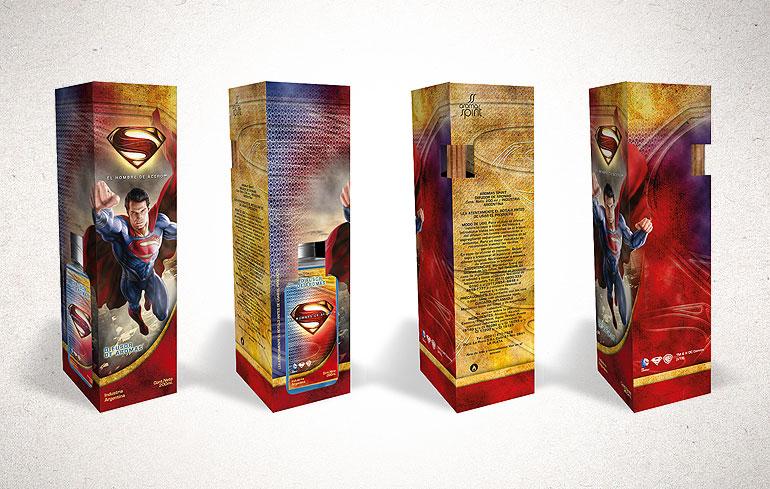 packaging de superman
