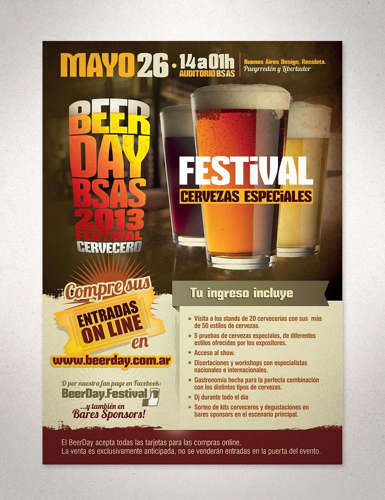 folletería para festival cervecero,