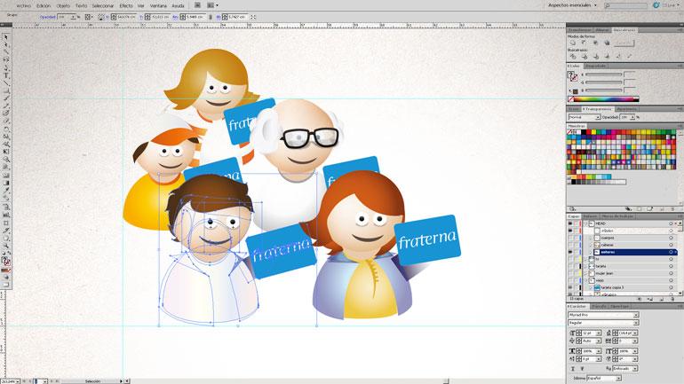 Diseño de iconos para Tarjeta Fraterna