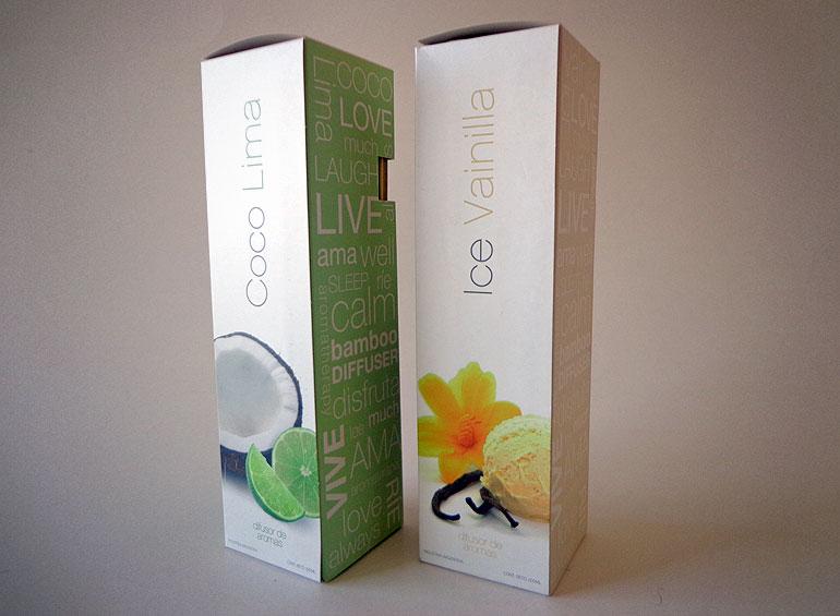packaging sistema de cajas por sabores
