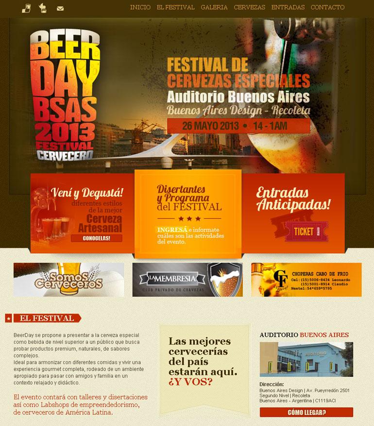 Diseño web beerday