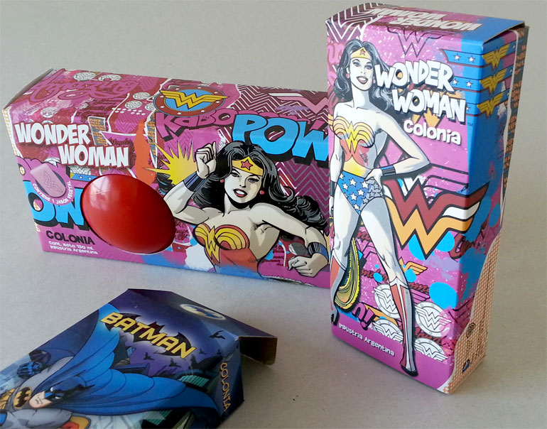 packaging colonias superhéroes