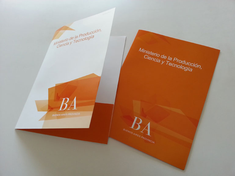 Carpeta brochure Ministerio de la Producción de la Provincia de Buenos Aires