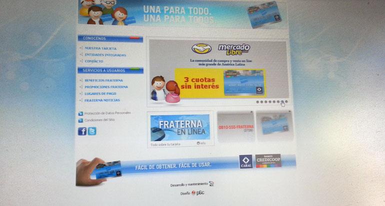 website tarjeta de crédito Fraterna