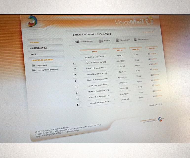 entorno gráfico para web de almacenamiento de mensajes de voz